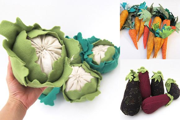 Handmade Veggie Plushies