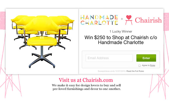 Win $250 to shop vintage home decor on Chairish!