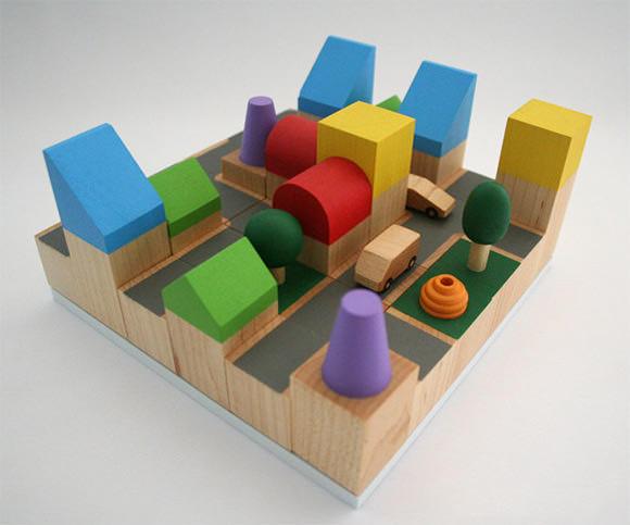 Cityscape Wooden Building Blocks via Etsy
