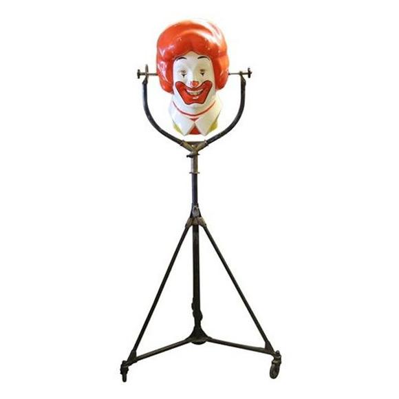 Vintage Repurposed Ronald McDonald Lamp (via Chairish)