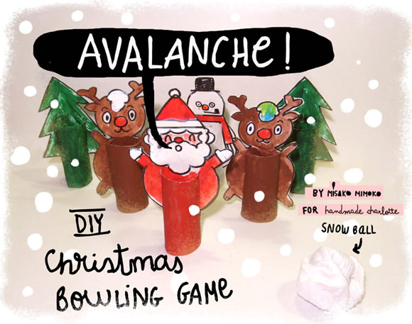 DIY Christmas Avalanche Bowling Game