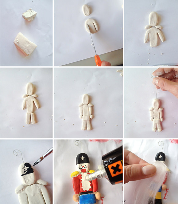 DIY Clay Nutcracker Ornament