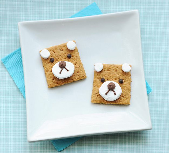 Bear S''mores  (fun & simple snack for kids)