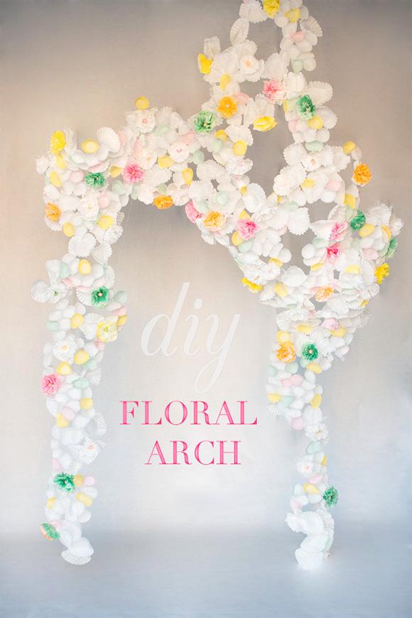 DIY Paper Flower Arch
