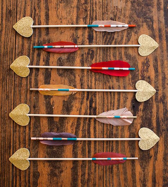 DIY Love Struck Arrows