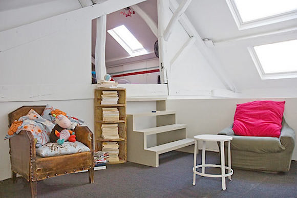 bird's nest attic nursery