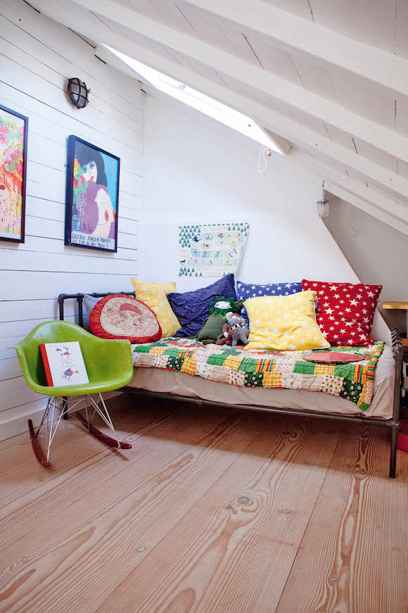 folksy attic kid's room