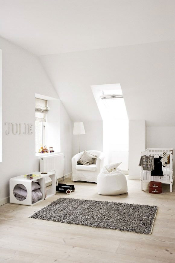 swedish attic nursery
