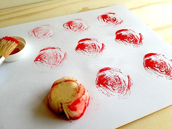 DIY Fruit & Veggie Stamps