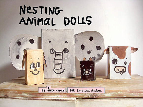 Upcycled Cereal Box Nesting Dolls
