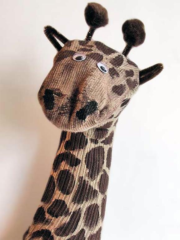 DIY Giraffe Sock Puppet