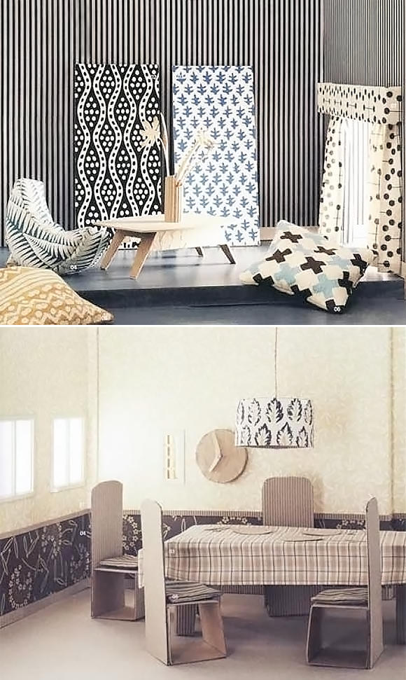 Mod­ern DIY Card­board Doll­house Fur­ni­ture