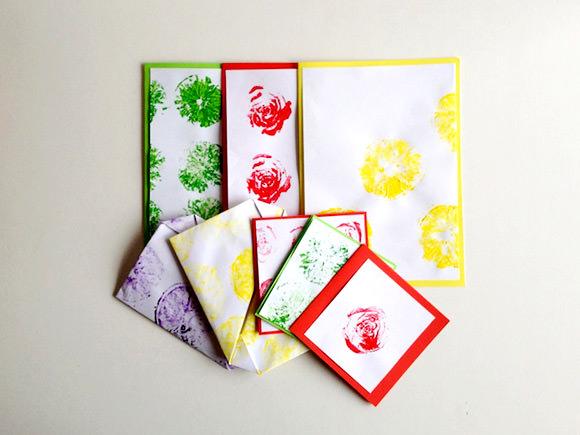 DIY Fruit & Veggie Stamped Origami Boxes