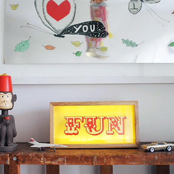 custom lightbox (fun for kid's rooms)