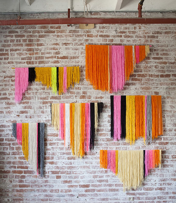 DIY Yarn Hangings