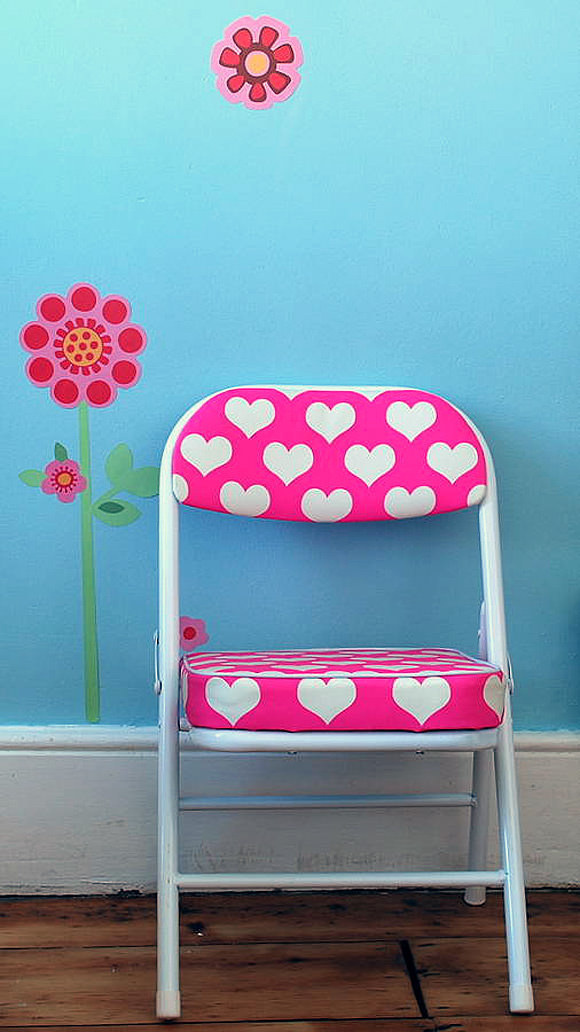 Retro-Style Heart Chair By The Heart Store