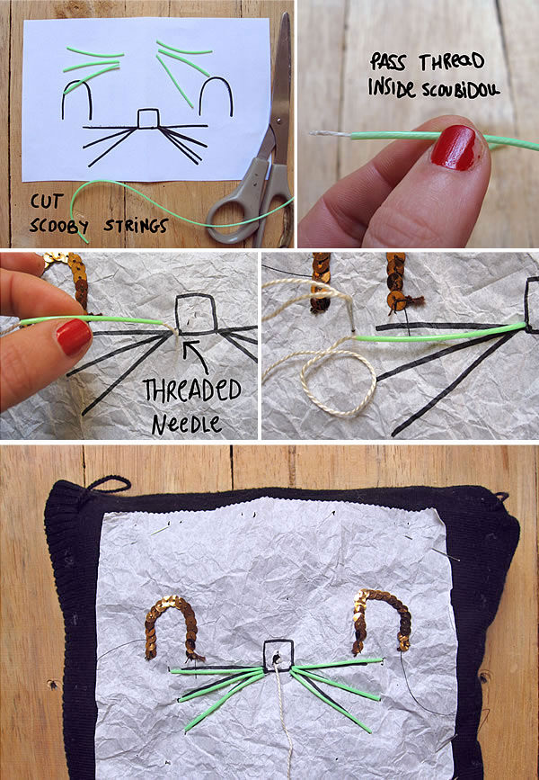 Make A Super Cute Upcycled Kitty Hand Muff & Pouch