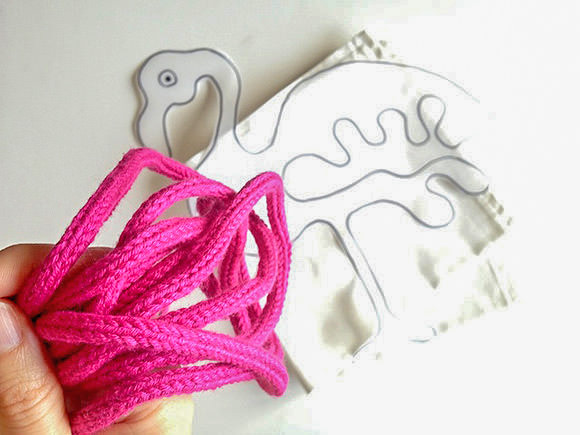 DIY Flamingo Pillow Knitting Project for Kids