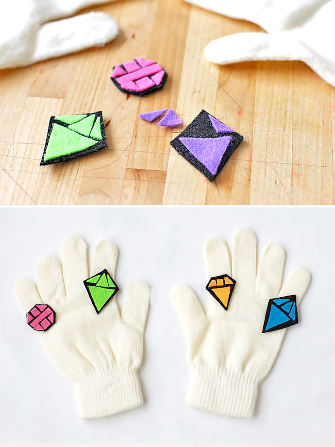 DIY Bling Gloves for Kids