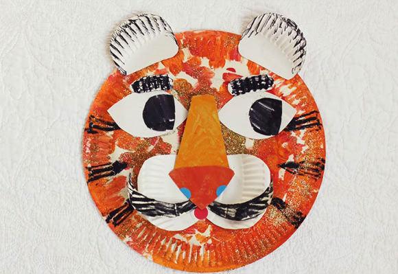 DIY Tiger Paper Plates