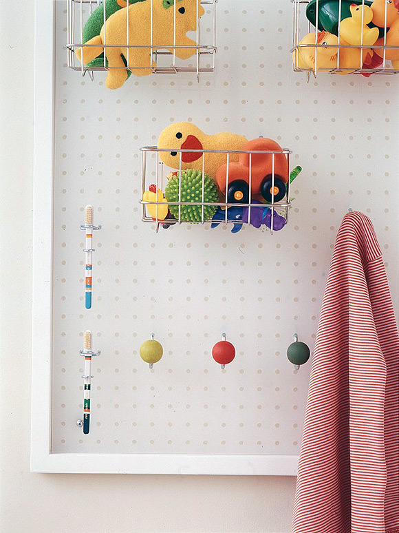 Bathroom Pegboard Photographed by William Abranowicz