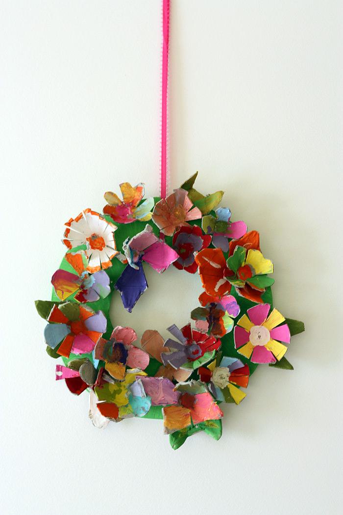 DIY Egg Carton Wreath