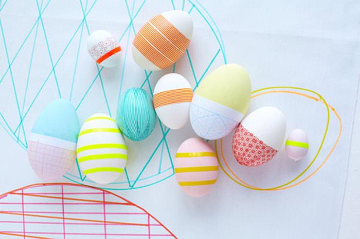 DIY Geometric Easter Eggs