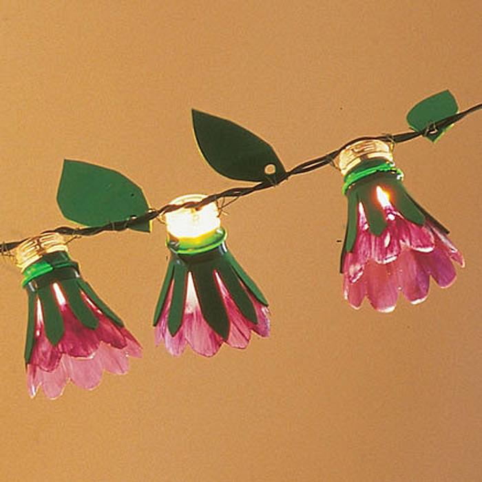 DIY Spring Garland Lights