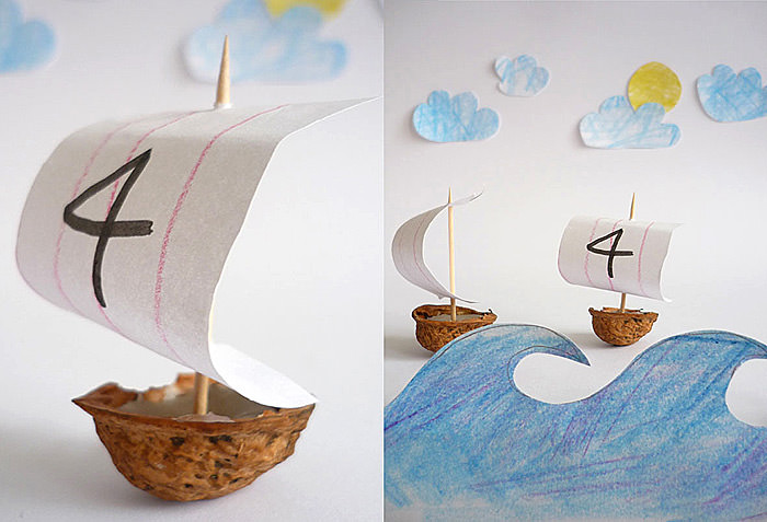DIY Walnut Boats
