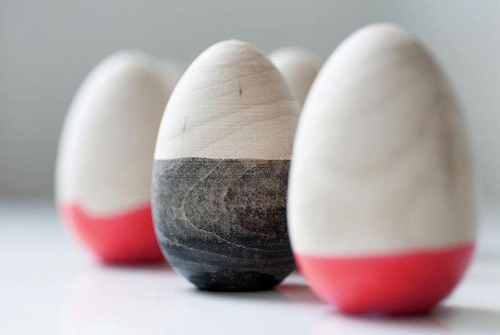 DIY Dipped Wooden Eggs