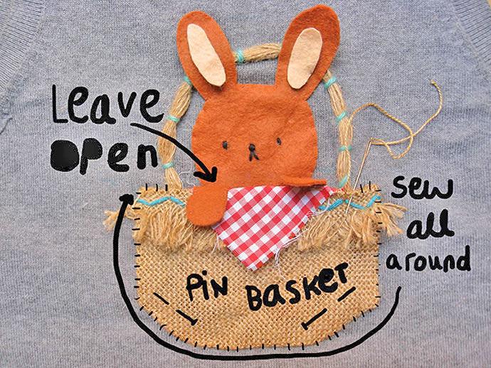 DIY Easter Bunny Pocket Tee