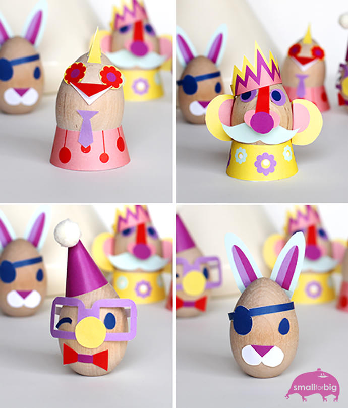 DIY Masters of Disguise Egg Decorations