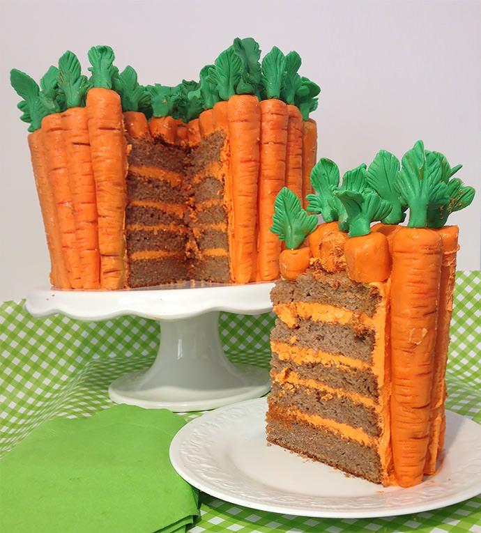 DIY Carrot Patch Cake Recipe via Make Me My Cake