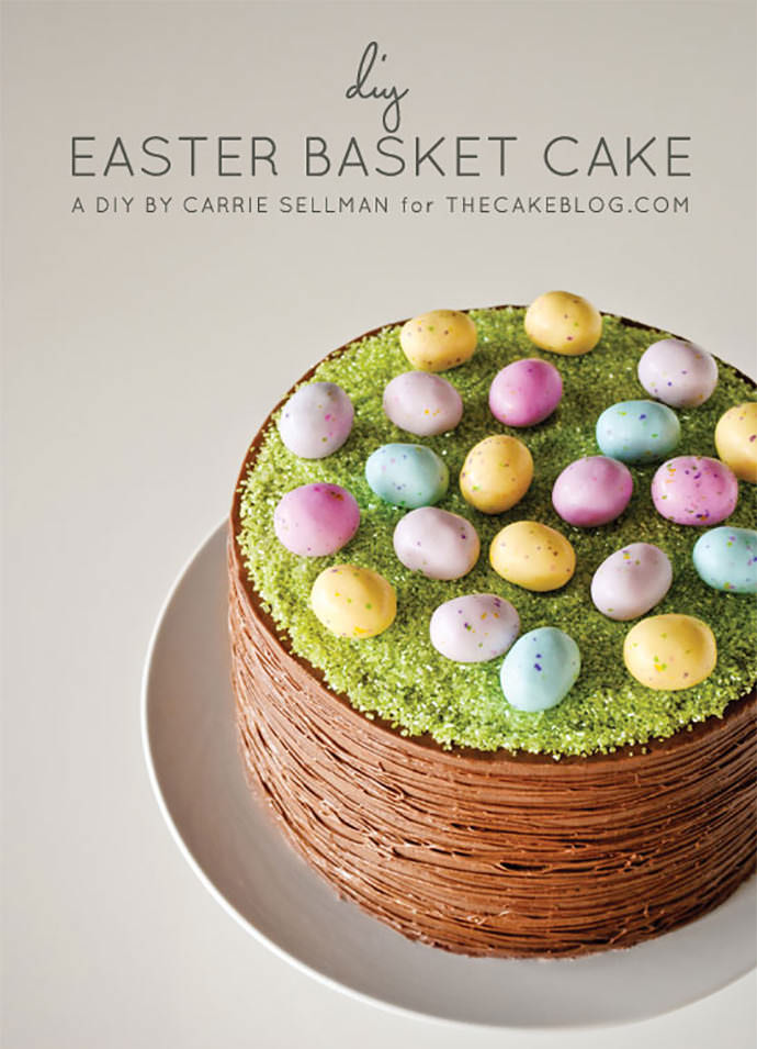 DIY Easter Basket Cake via The Cake Blog