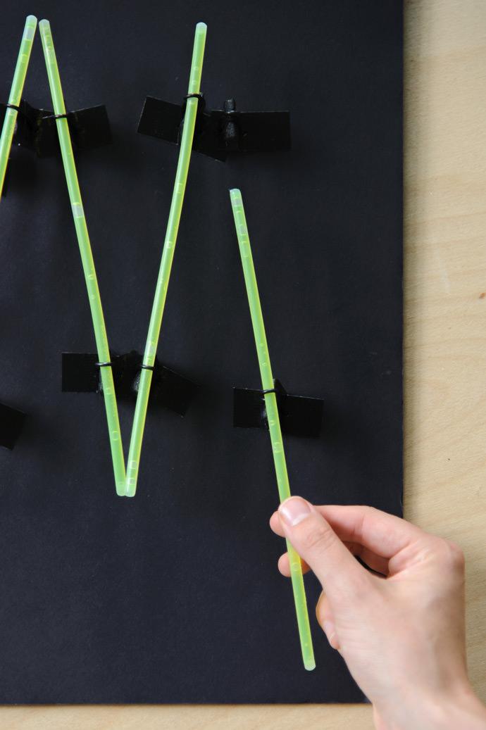 DIY Glow Stick Neon Sign