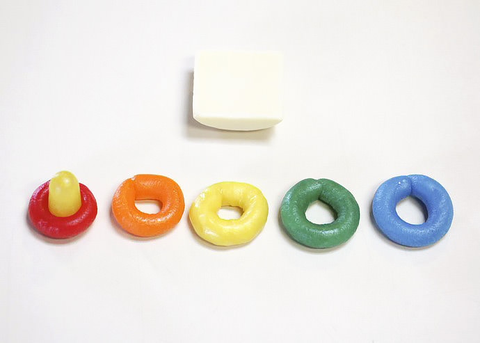 DIY Candy Rainbow Rock-a-Stack Toy