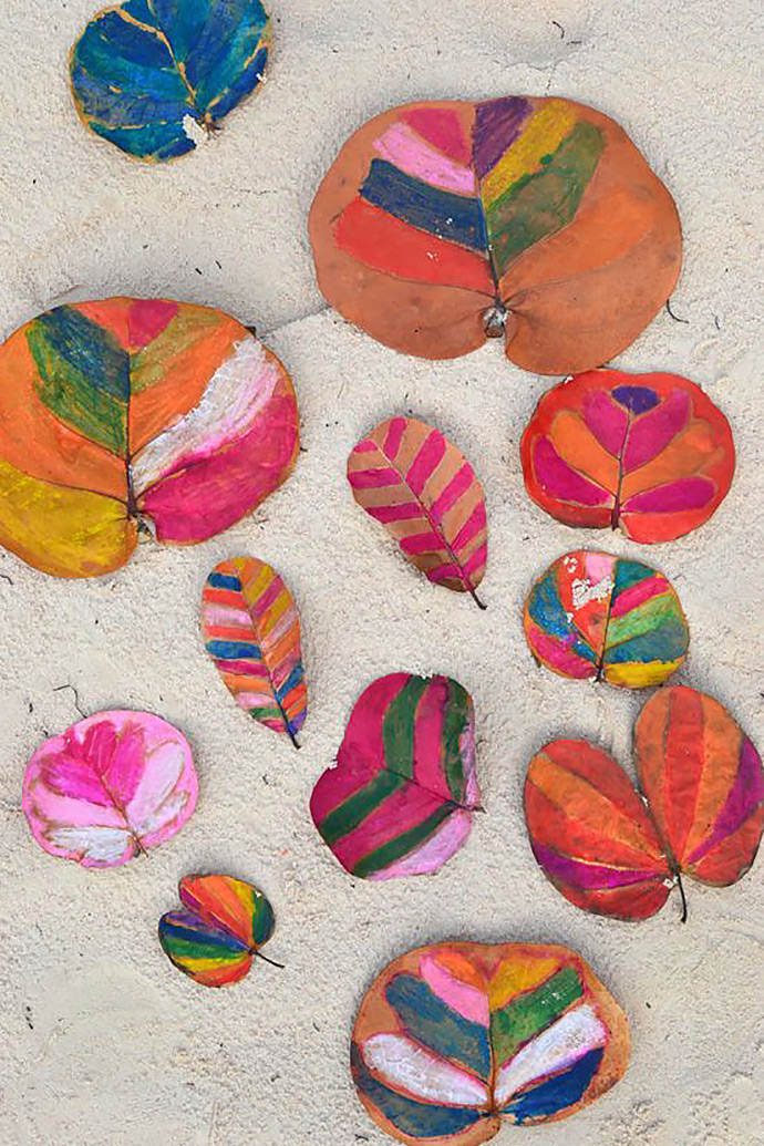 DIY Painted Leaves via Small for Big