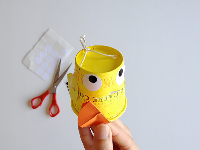 DIY Paper Cup Duck Family Puppets
