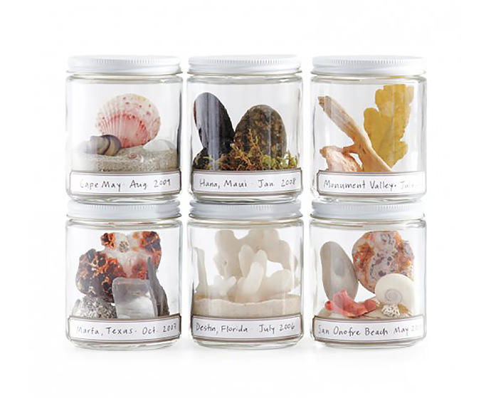DIY Vacation Souvenir Jars via Martha Stewart
