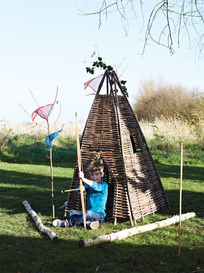 Twigwam play fort for kids, available from Cox and Cox