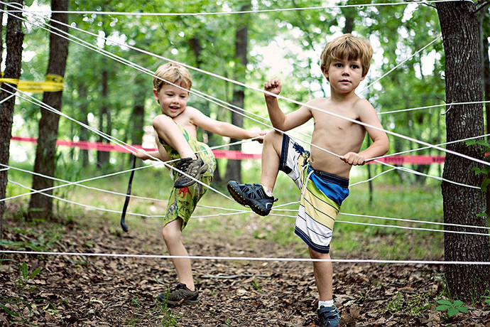 DIY Mud Run Birthday Party (via Ashley Ann Photography)