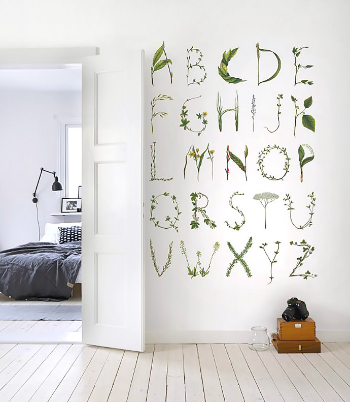 ABC For The Spelling Bee Wall Mural (available from Rebel Walls)