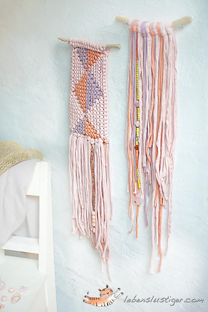 DIY Fabric Yarn Hanging via Lebenslustiger