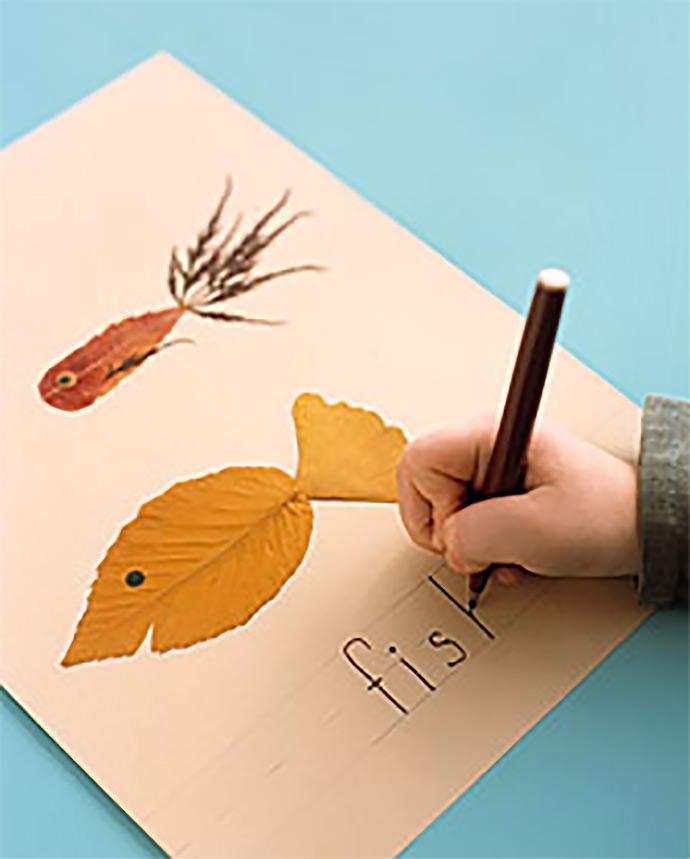 DIY Leaf Alphabet via Martha Stewart Living