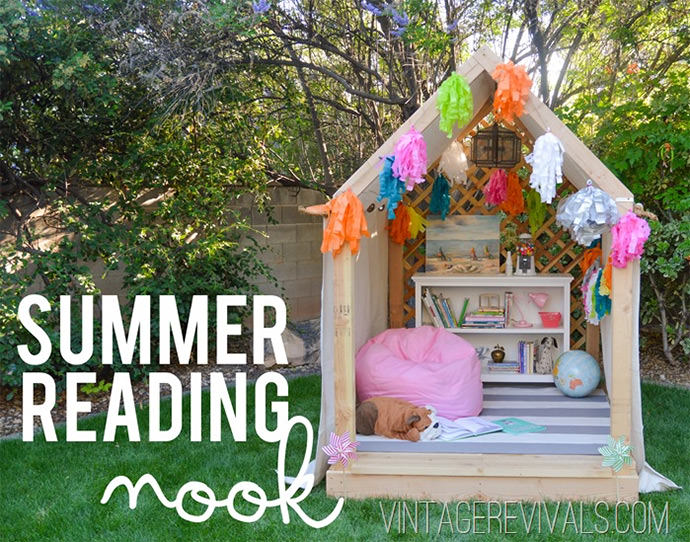 DIY Summer Reading Nook (via Vintage Revivals)