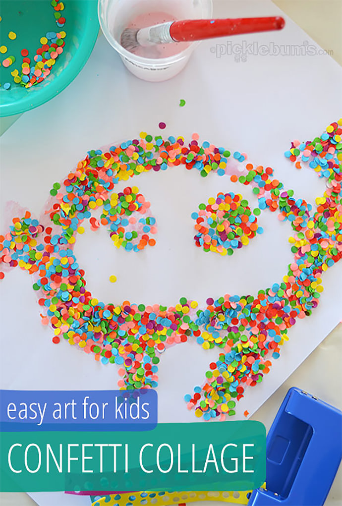 DIY Confetti Collage via Picklebums