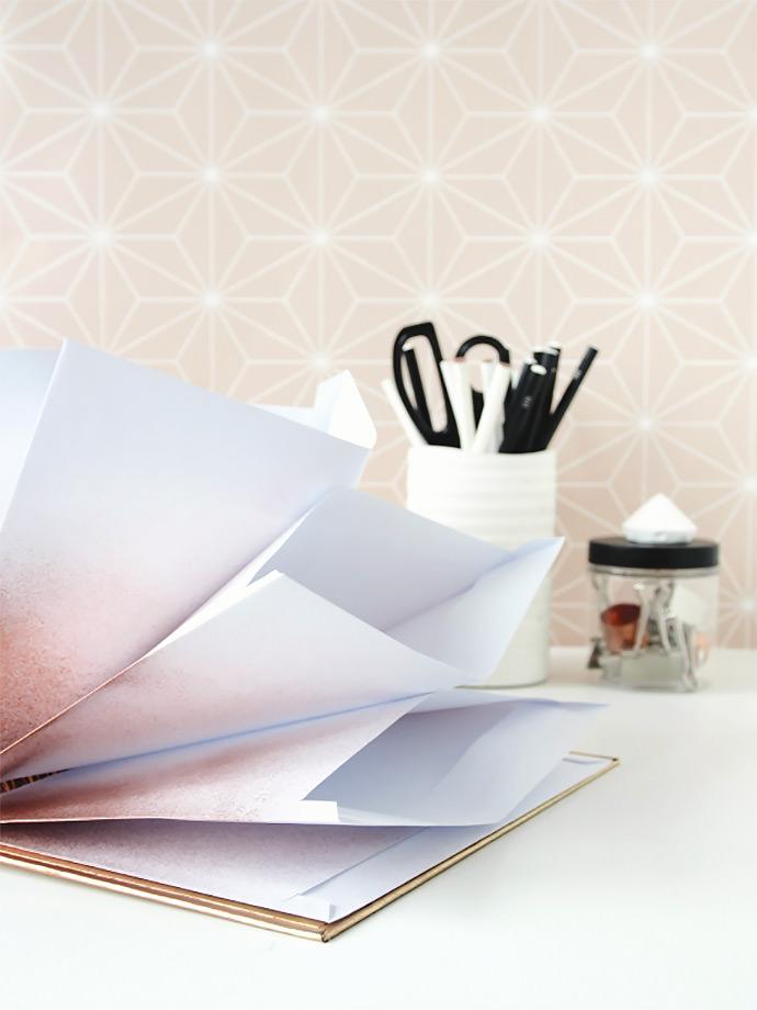 DIY Metallic Desk Organizer Envelopes via Eclectic Trends