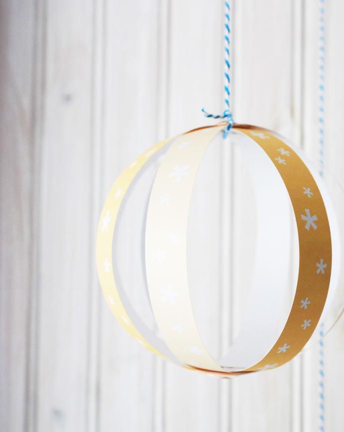 DIY Printable Paper Fireworks Globes