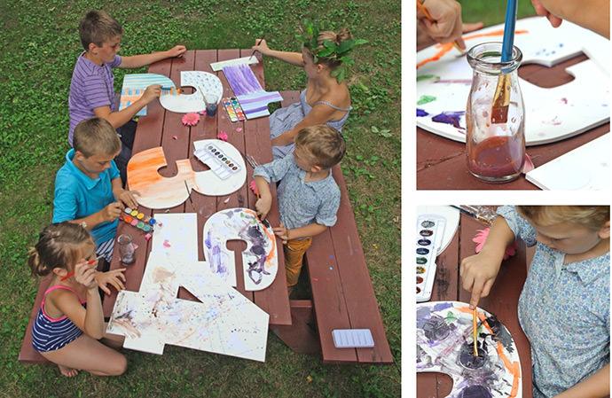DIY Jumbo Numbers Watercolor Printable