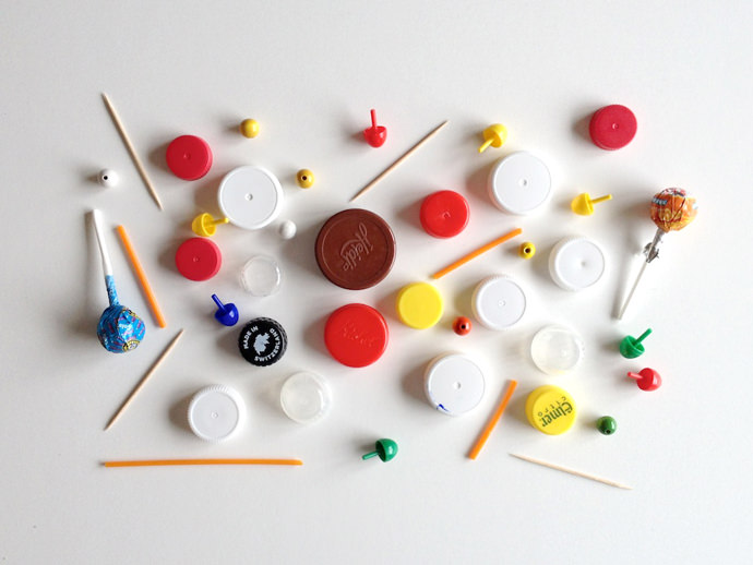 DIY Recycled Bottle Cap Spinning Top Game Boards